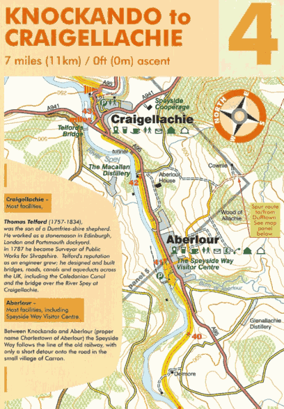 Cycle Map Speyside Way