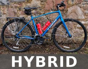 Hybrid trekking bike hire in Inverness