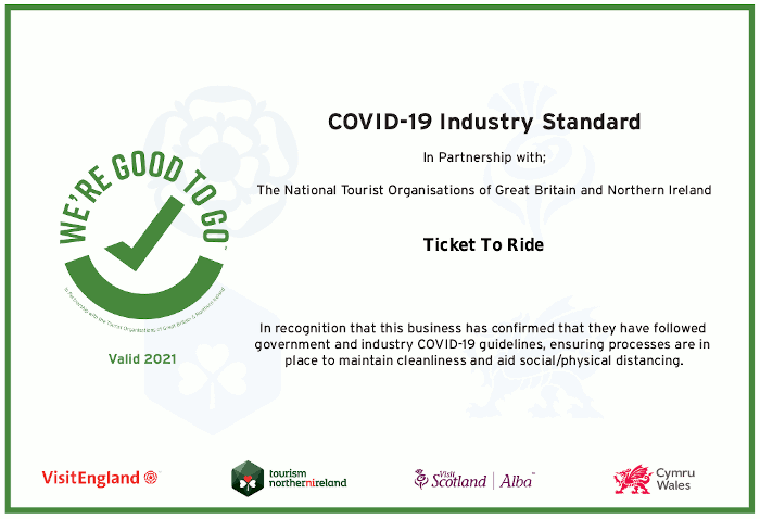 Ticket To Ride's Good To Go Certificate