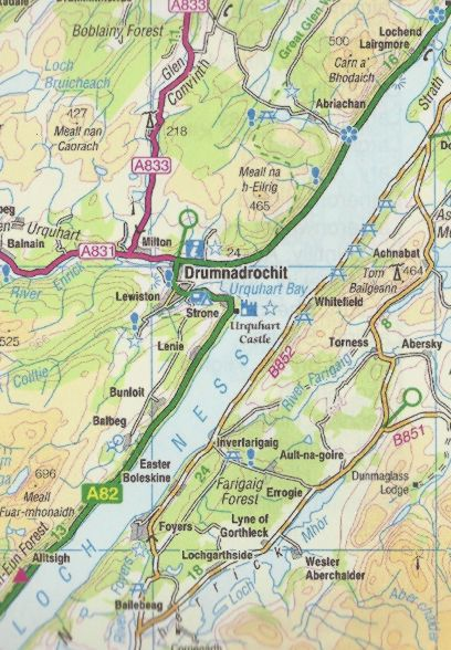 Scottish highlands road map sample