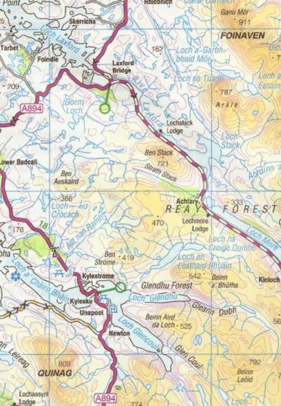 Map Of Uk Highlands.Cycle Map West Of Scotland